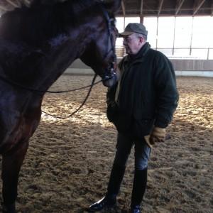 Eschenbruch, 23.12.12 Consuelo mit Hans Loog