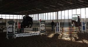 Eschenbruch, 11.01.14, Consuelo trainiert mit Tanja unter der Anleitung von Fritz Schlingheider