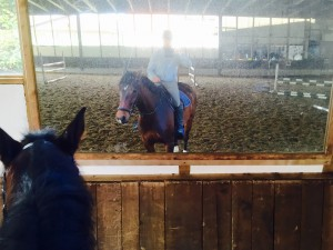 Maik und Consuelo beim Training, 24.10.14
