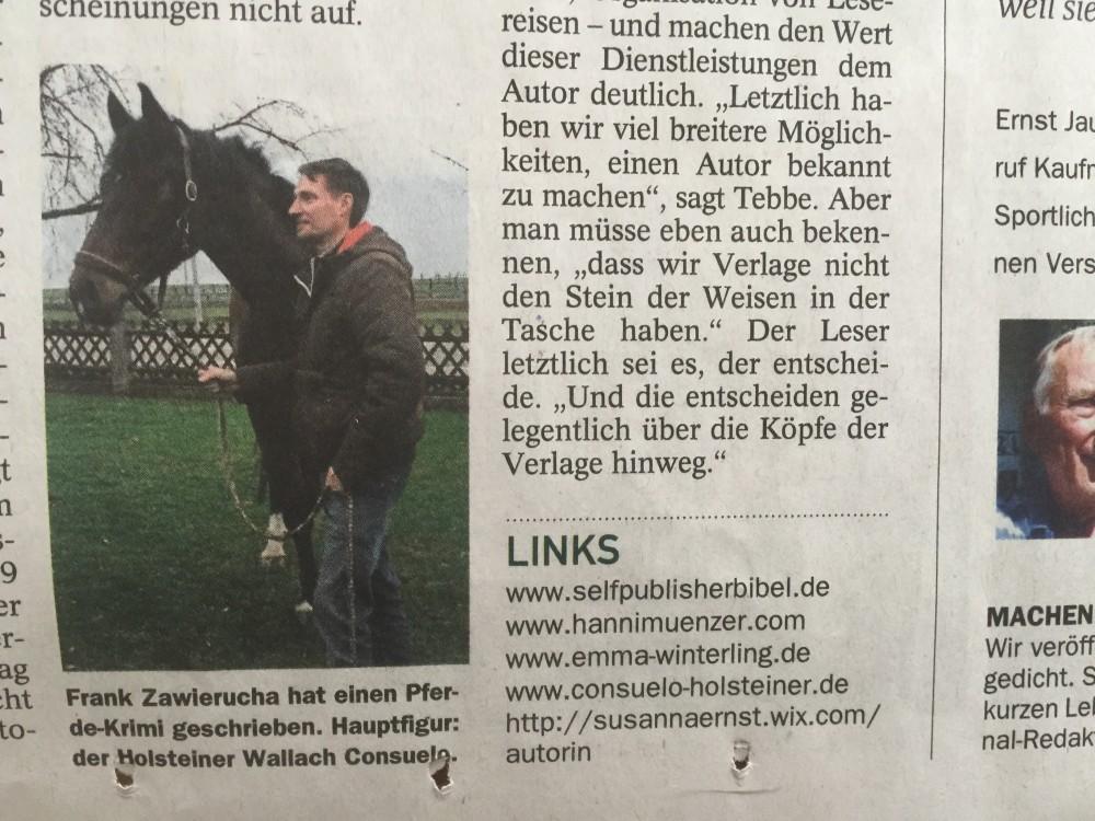 Artikel Münchener Merkur, Ausgabe 21. u. 22. März 2015