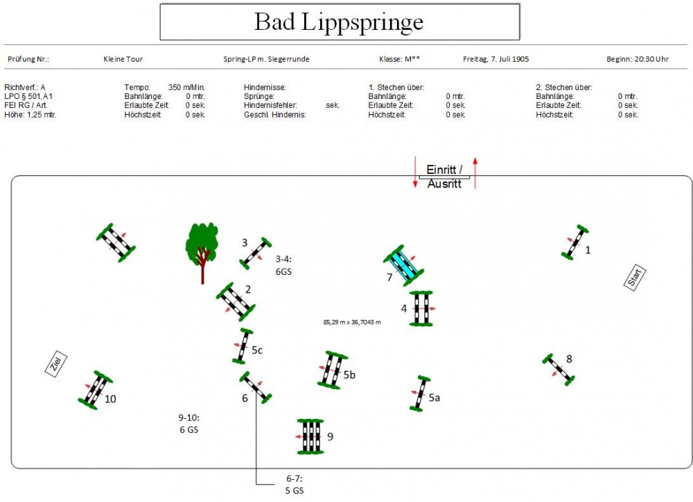Consuelos erster M** Parcours in Bad Lippspringe