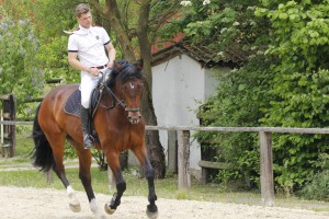 Maik und Consuelo beim Training, Mai 2015