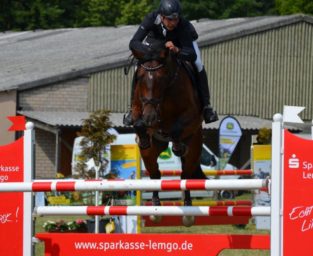 Consuelo und Maik auf dem Turnier in Bösingfeld, Juni 2015
