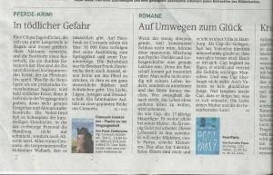 Consuelo Holsteiner: Flucht vor der Vergangenheit: Kritik Münchner Merkur, Juli 2015