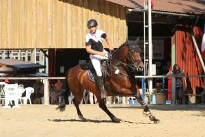 Consuelo u.Maik auf dem Turnier in Eschenbruch, Juli 2015