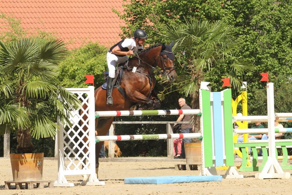 Consuelo u. Maik auf dem Turnier in Eschenbruch, Juli 2015