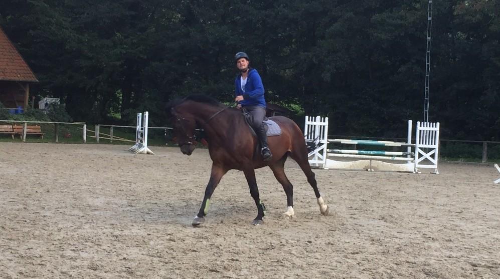 Maik und Consuelo beim Training, September 2015