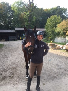 Maik und Consuelo nach dem Training, Oktober 2015